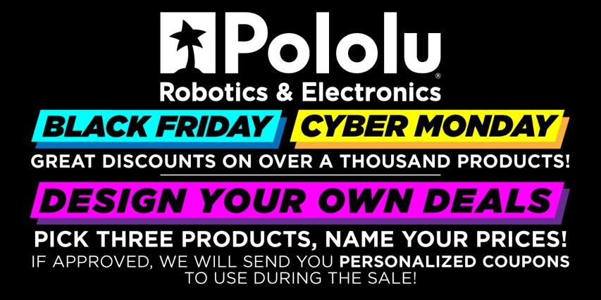Pololu Black Friday 2020 Banner