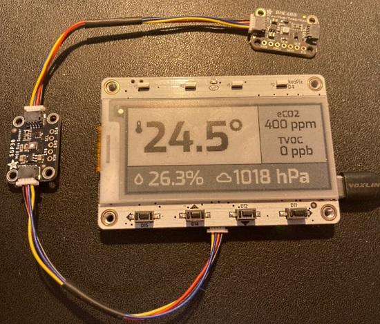 Adafruit MagTag Sensors