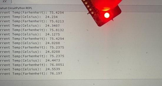 A low cost temperature sensor
