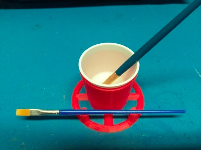 Dixie Cup Holder Painting Tool by jeff j3ffr3y Thingiverse