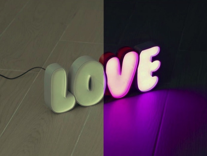 LED Marquee Love by dukedoks Thingiverse