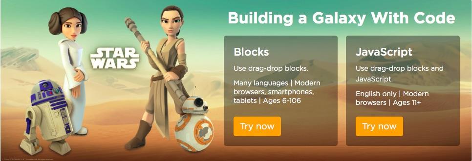 Star Wars Code org