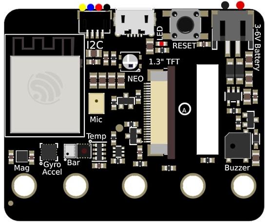 ESP32-S2 based CLUE board