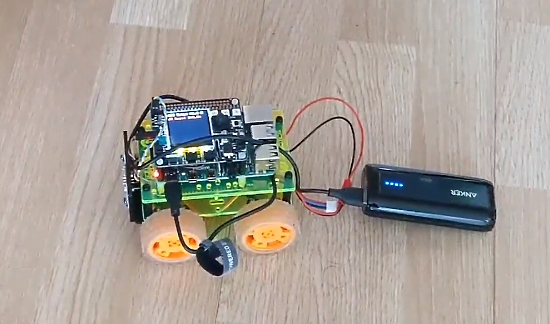 Robot using an Adafruit Braincraft Hat & Motor Bonnet