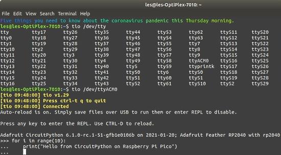 CircuitPython 6.2.0 Use