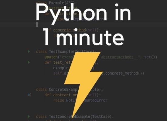Python In 1 Minute