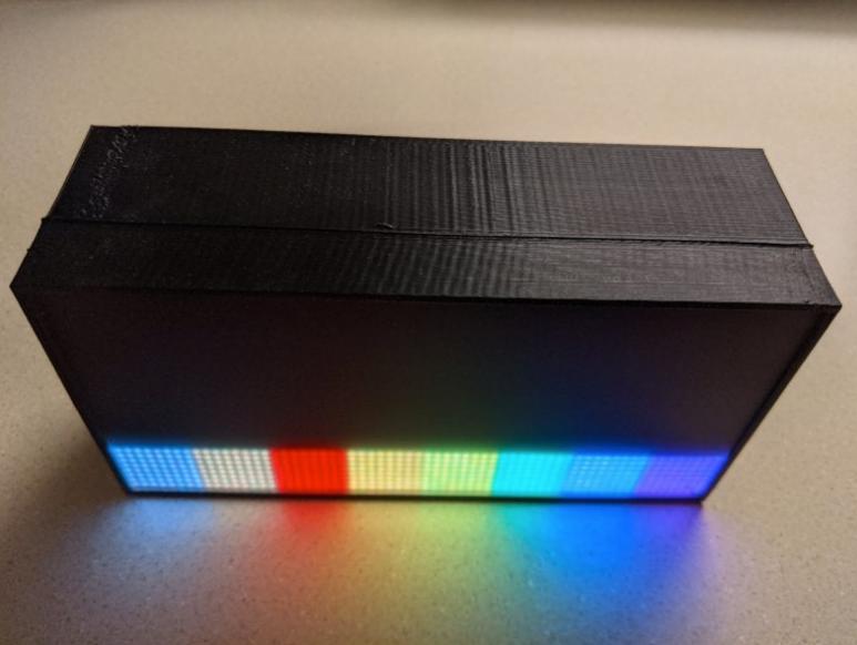 Adafruit 64x32 RGB LED Matrix modular case by dlongley Thingiverse
