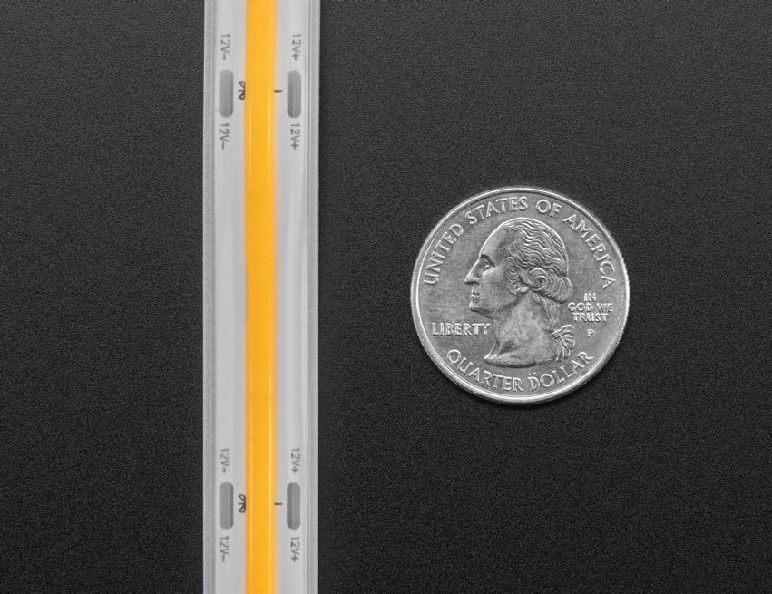 COB LED Strip yellow quarter ORIG 2020 12 V2