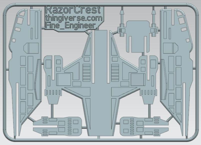 Razor Crest The Mandalorian Kit Card by Fine Engineer Thingiverse