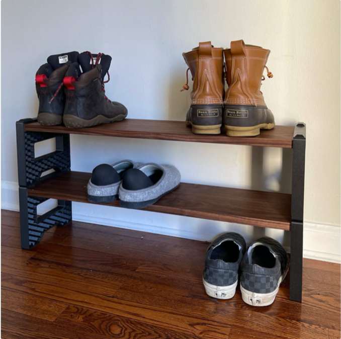 Stackable Shoe Rack by 3DDIY Thingiverse
