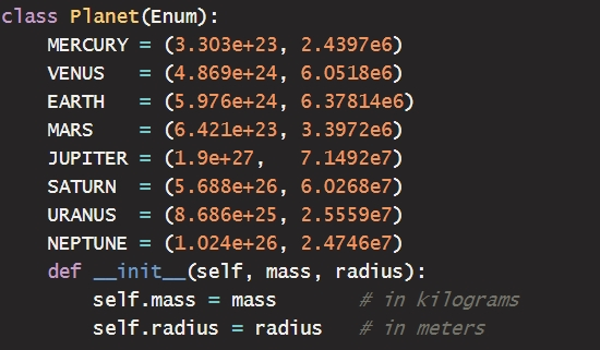 Why we don't use python native enums