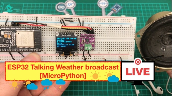 ESP32 Talking Weather broadcast