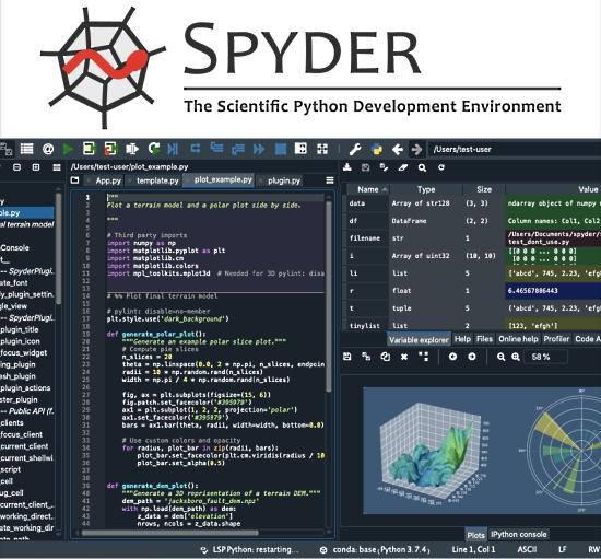 Spyder - the scientific Python development environment