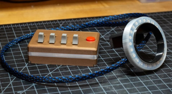 3D-printed Ring Light