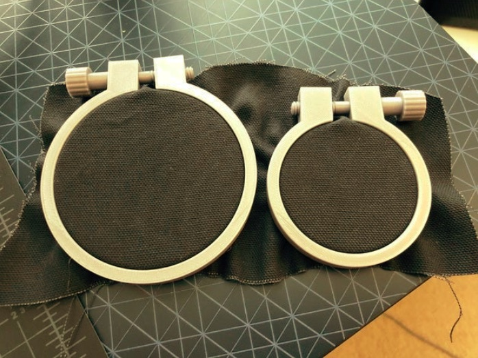 Embroidery hoop V2 by gvera Thingiverse