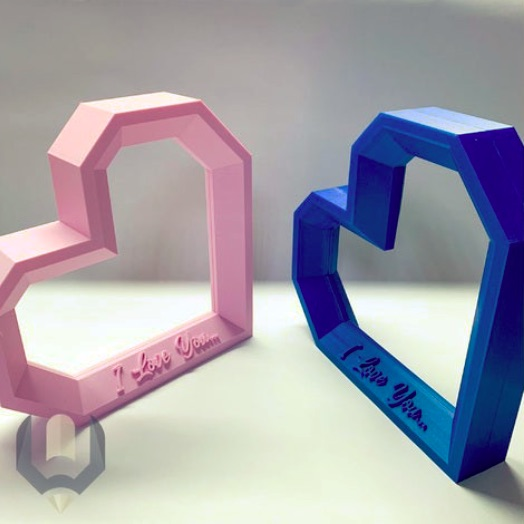 Lowpoly Heart Picture Frame by b3dmaker Thingiverse