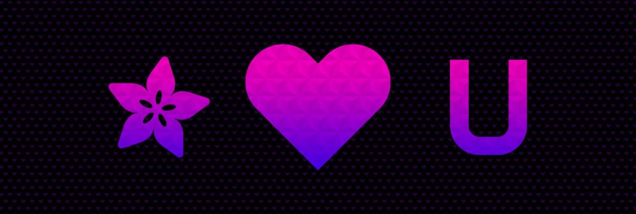Adafruit valentine hero