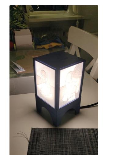 Lithopane lamp E14 by Roldman Thingiverse