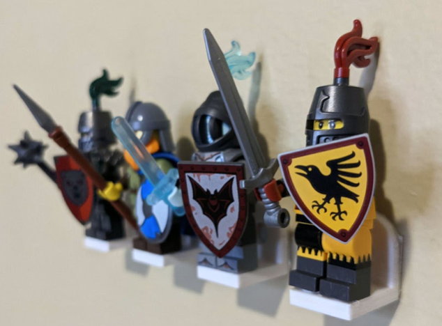 Mount Brick LEGO® Minifig Compatible Wall Mounts by lvlobius Thingiverse