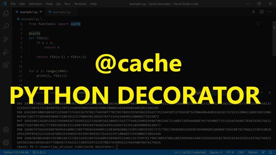 Cache decorator in Python