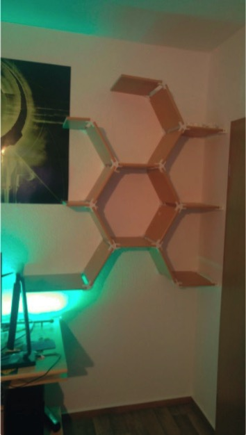 Stronger Shelf Hex Brackets by GOTY Thingiverse
