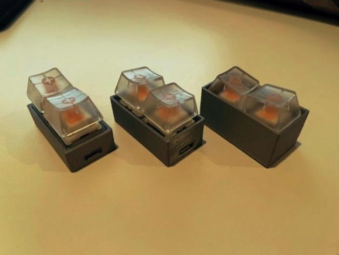Tiniest Programmable 2 Key RGB Macro Keyboard w Arduino Pro Micro by TensorVortex Thingiverse