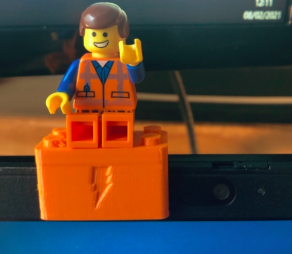 Webcam Cover Up Lego brick for Thinkpad by makethingswith Thingiverse