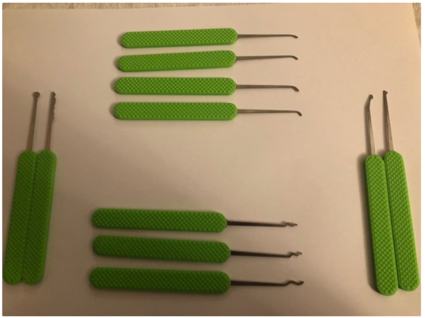 Knurled Lockpick Handles remixed for Southord metal handle pick by kmarty Thingiverse