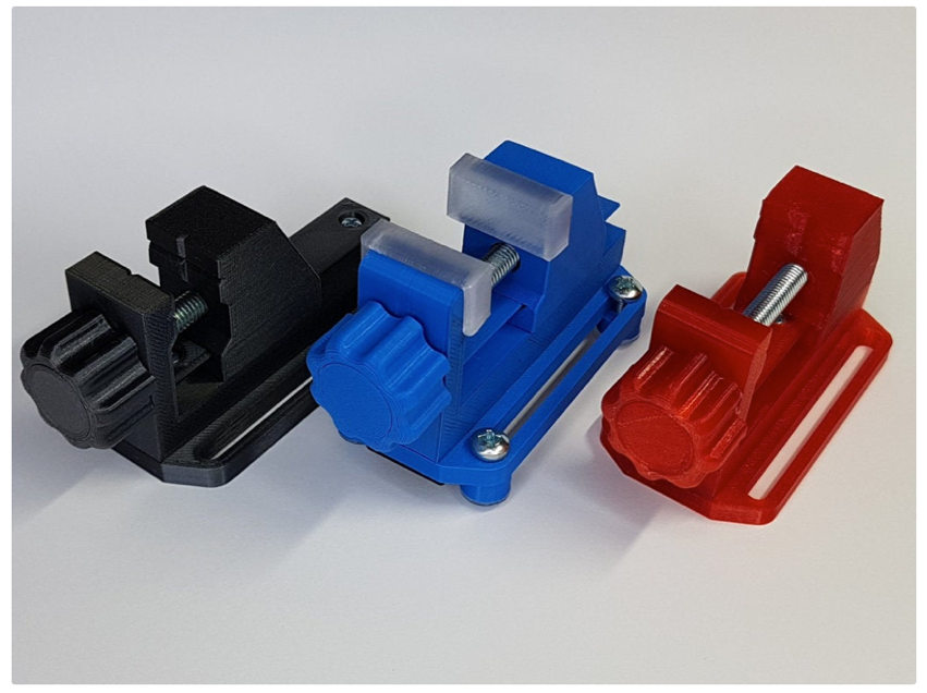 Miniature Vice 2 0 much easier to assemble by HD Creator Thingiverse