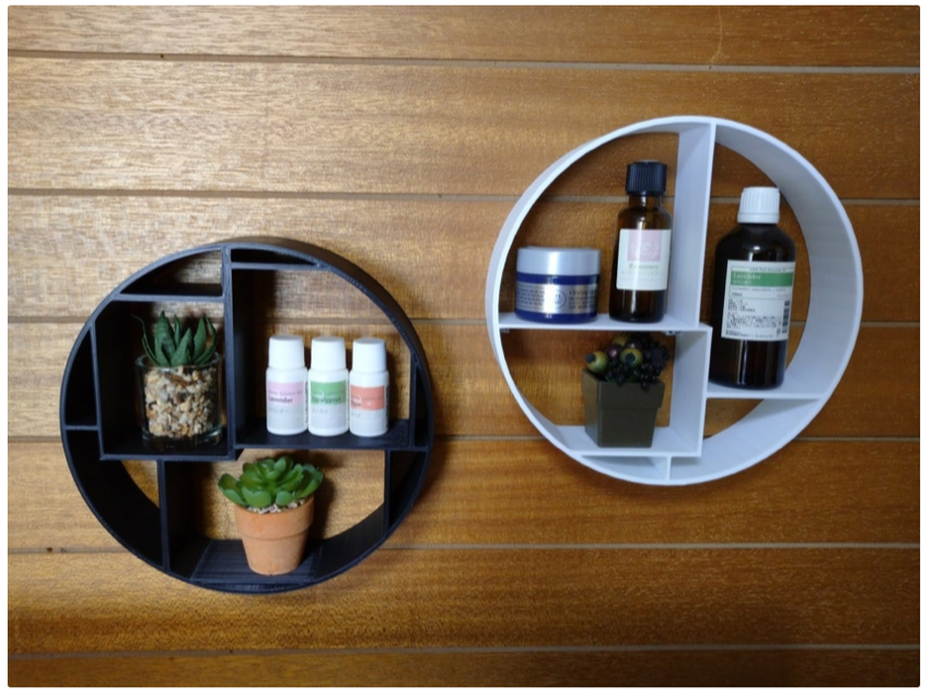 Round shelf by comcom atelier Thingiverse