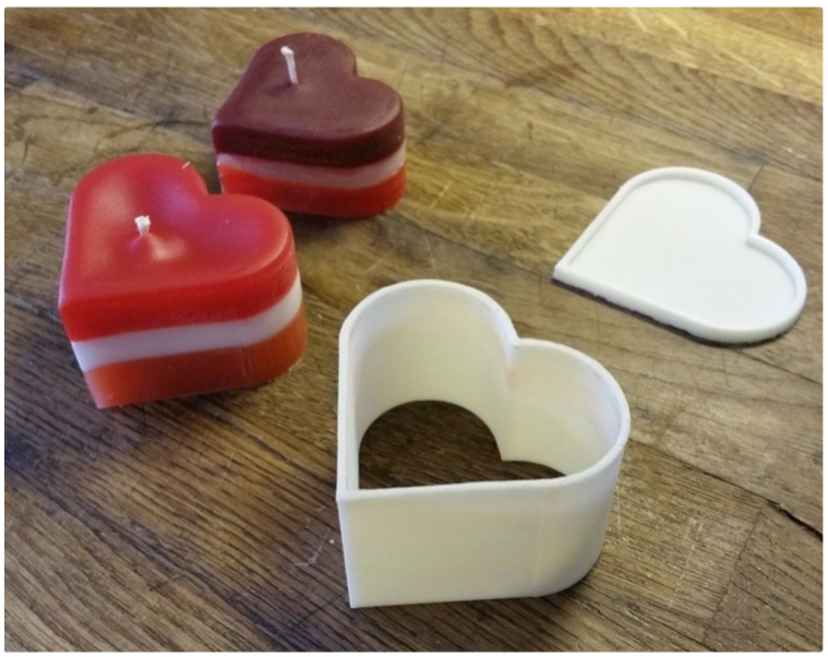 Candle mold by Merandey Thingiverse