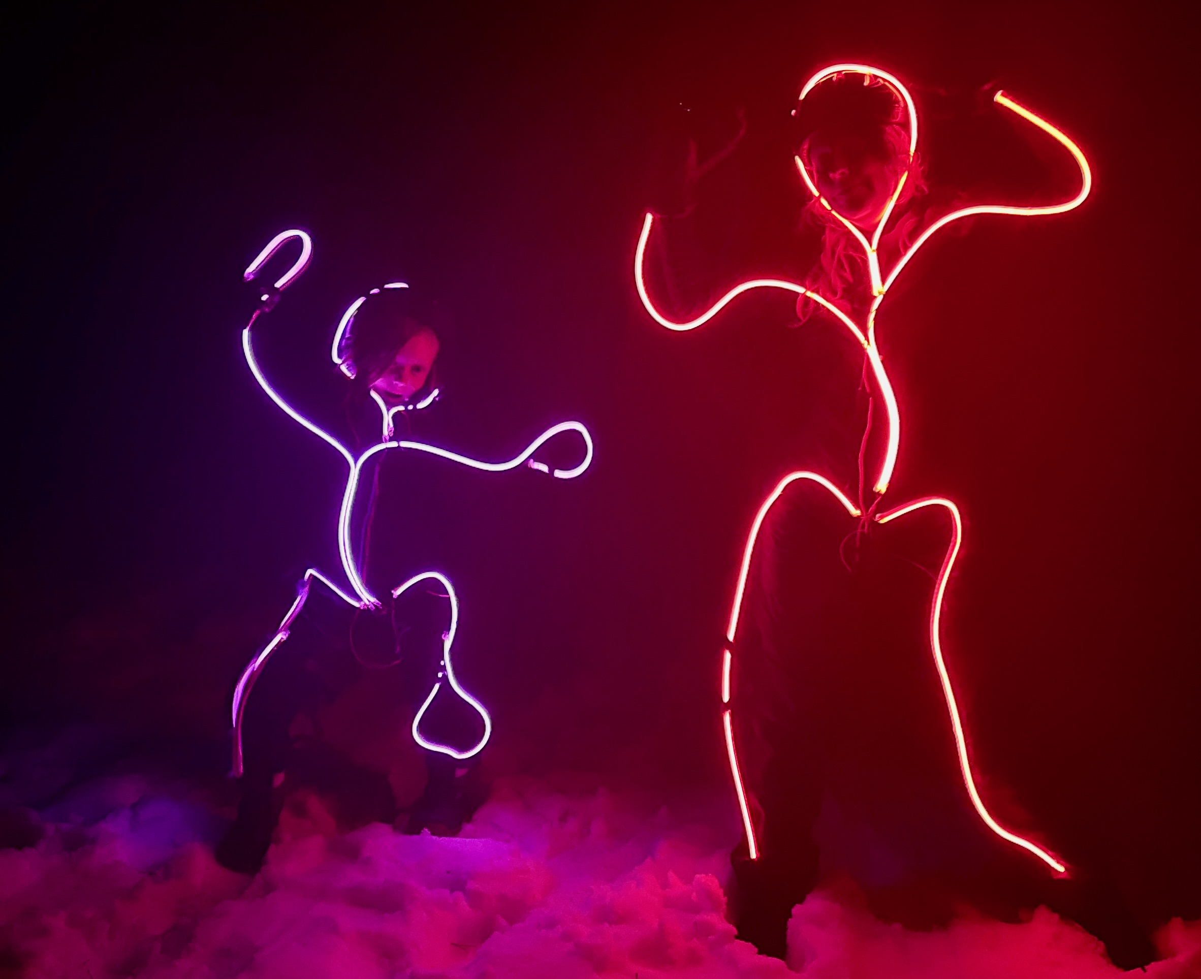 LED stick person costume