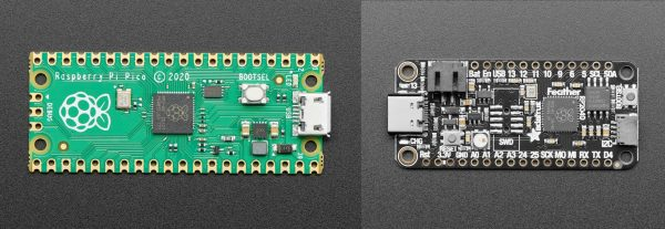 Raspberry Pi Pico RP2040 and Adafruit Feather RP2040