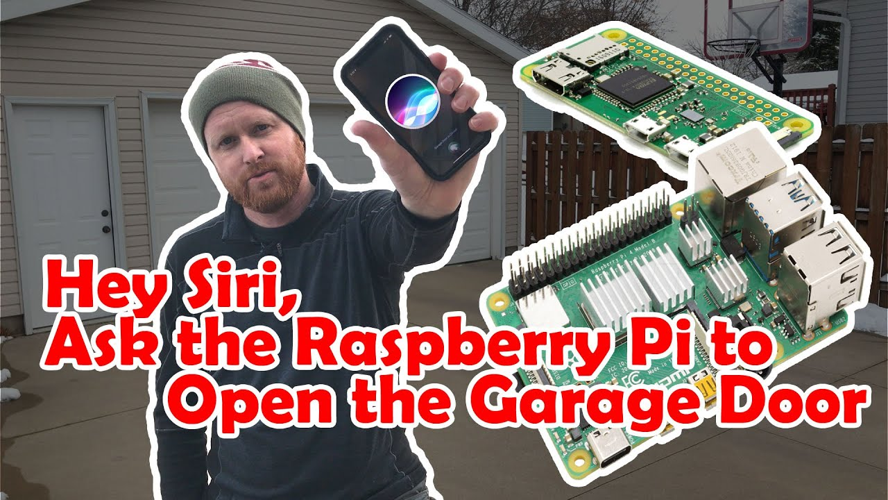 Siri Controlled Garage Door Opener Using a Raspberry Pi. DIY Project Complete Tutorial #piday #raspberrypi @Raspberry_Pi