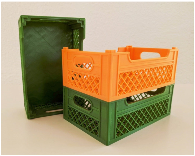 Stackable crate by brainchecker Thingiverse