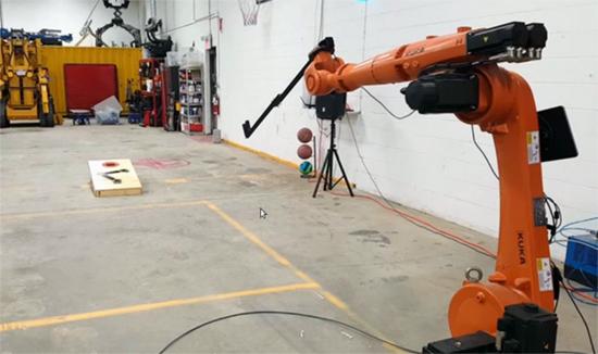 Cornhole with robot