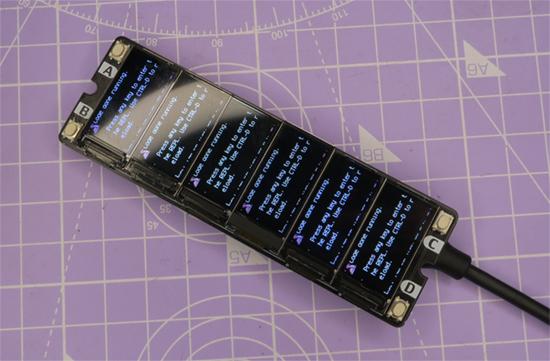 CircuitPython running on display board