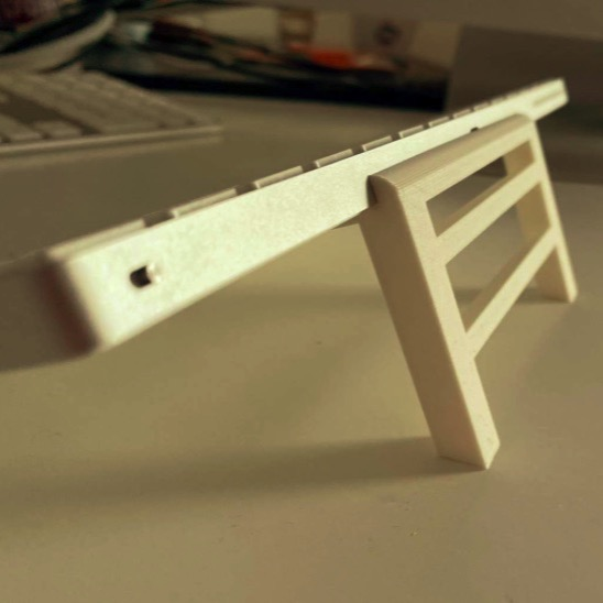 Apple Keyboard Holder by yellowmart Thingiverse