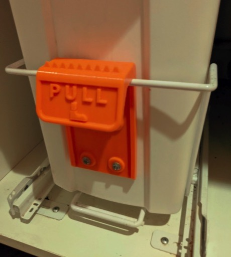 Trash can foot pull by DuckEsquire Thingiverse
