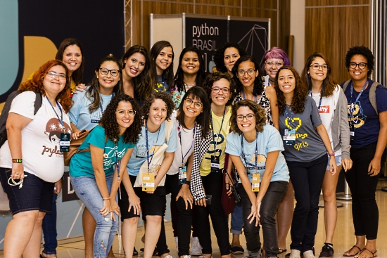 PyLadies at Python Brazil 2018.