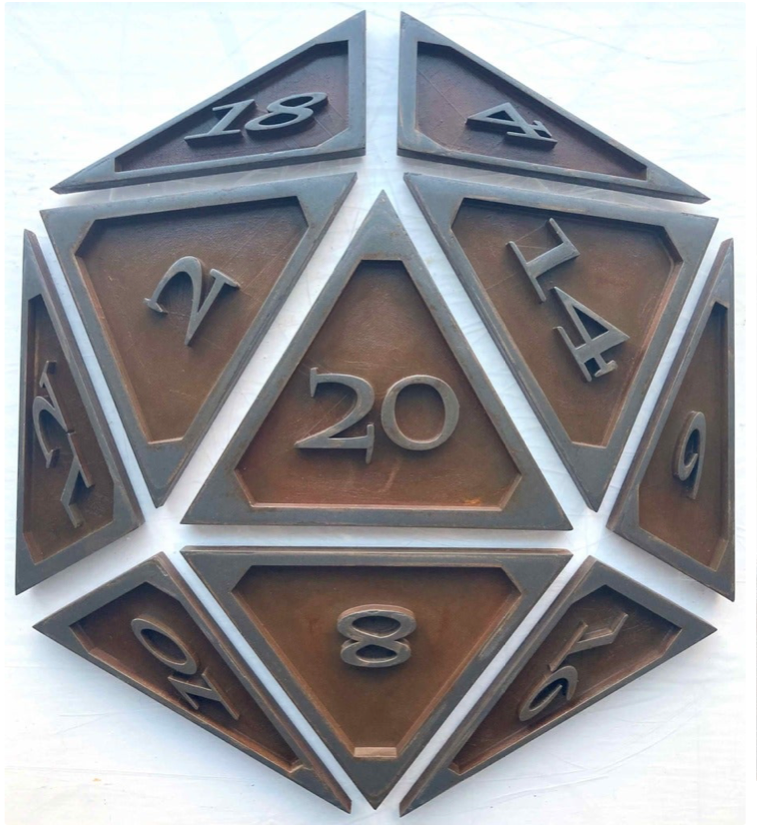 D20 Wall Art by geoffreyyoung Thingiverse