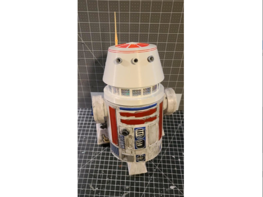 Droid Depot R5 D4 Deluxe Dome by starbuilder2021 Thingiverse