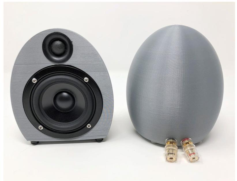 Egg Speaker Enclosure by lithochasm Thingiverse