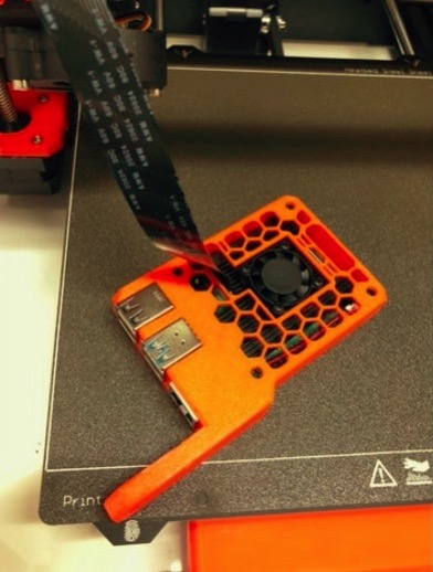 Raspberry Pi4 case for Prusa MK3S with DSI opening by adjuro Thingiverse
