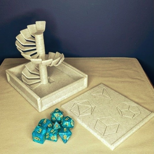 Spiral dice tower box by aclugston519 Thingiverse