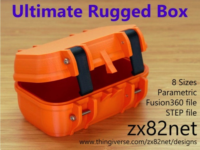Zx82net Ultimate Parametric Rugged Box Snap Closure by zx82net Thingiverse