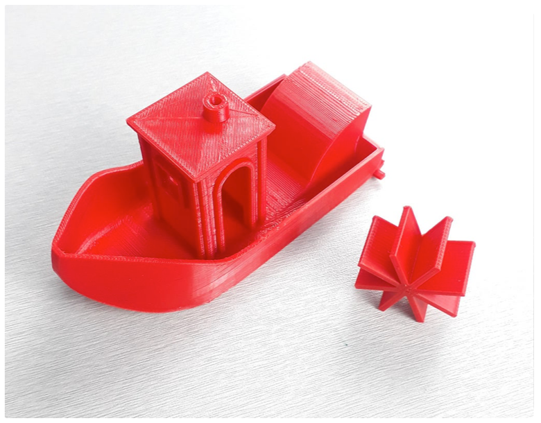 Rubber band Power mini Boat by RAVI3D Thingiverse