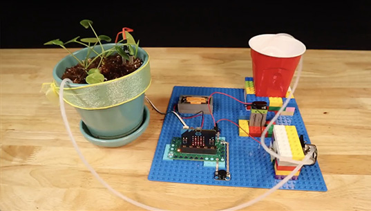 Moisture Sensor with Pump for Plant Watering