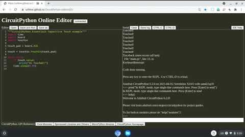 Online editor for CircuitPython