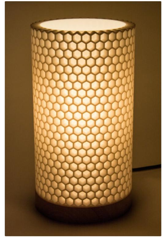 Honeycomb lamp shade by Bemko Thingiverse